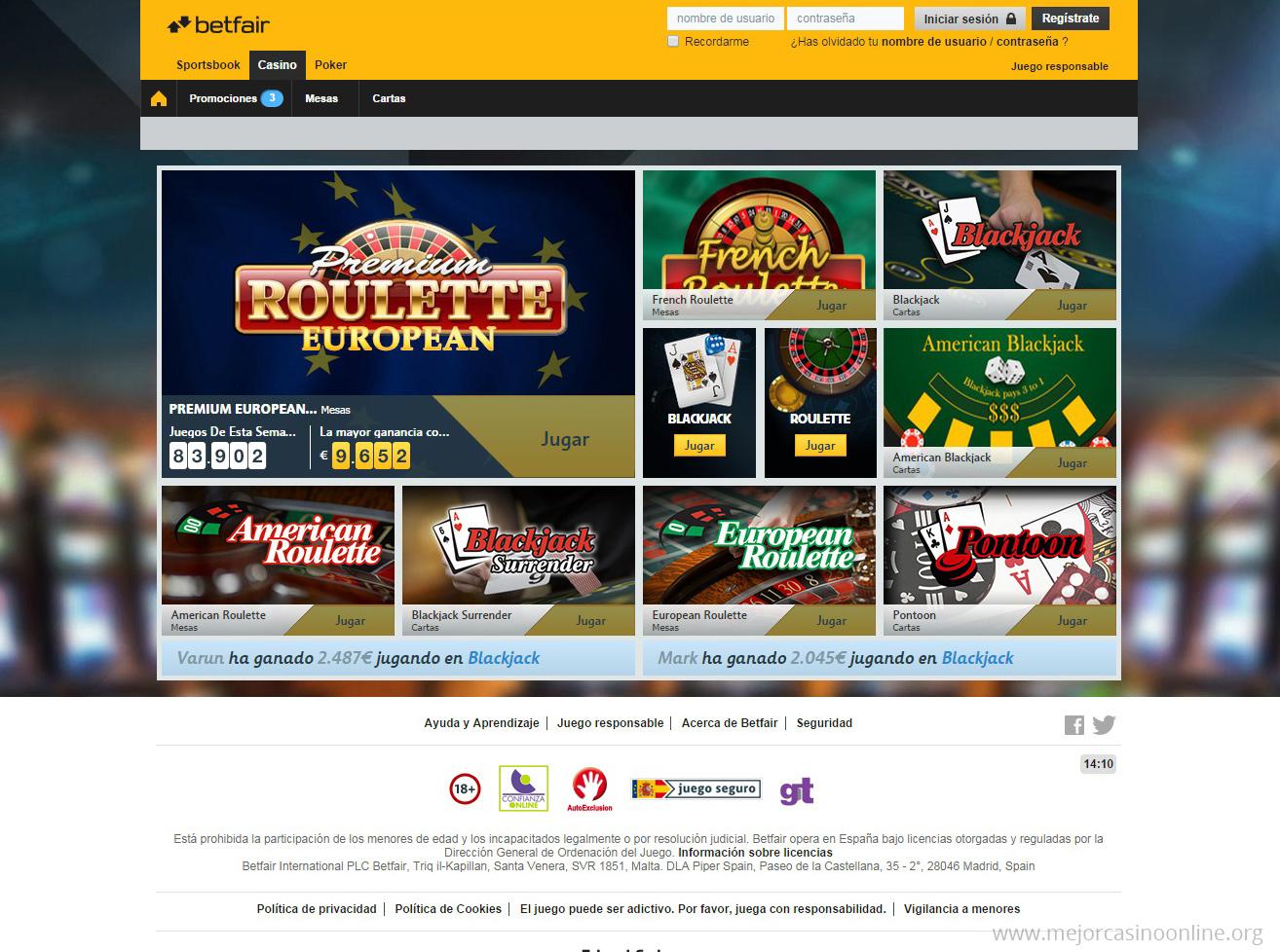 Betfair Casino Serios